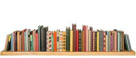 libri in una mensola
