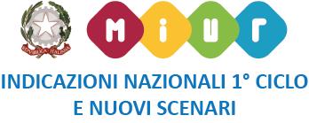 simbolo del MIUR con scritta indicazioni nazionali 1° ciclo e nuovi scenari