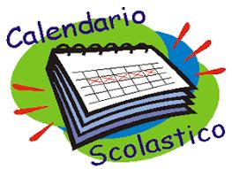 un calendario con scritta calendario scolastico